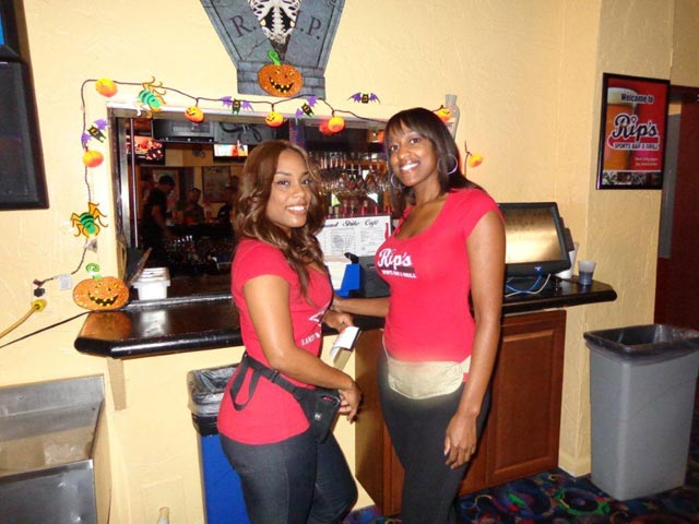 Diamond Strike Lanes, our lane wattress's Monique on left and Terri on right!