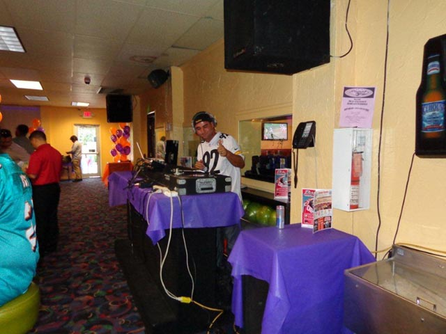 DJ out on the lanes